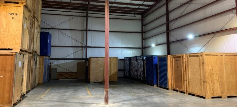 inside of a storage facility