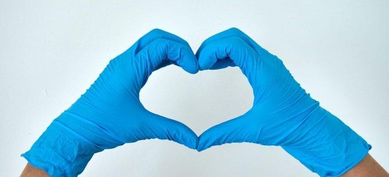 Keep gloves on when moving during coronavirus outbreak