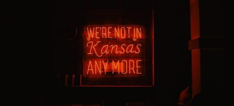 not in Kansas neon light