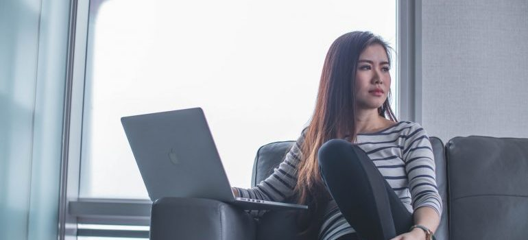 girl thinking about benefits of long term storage